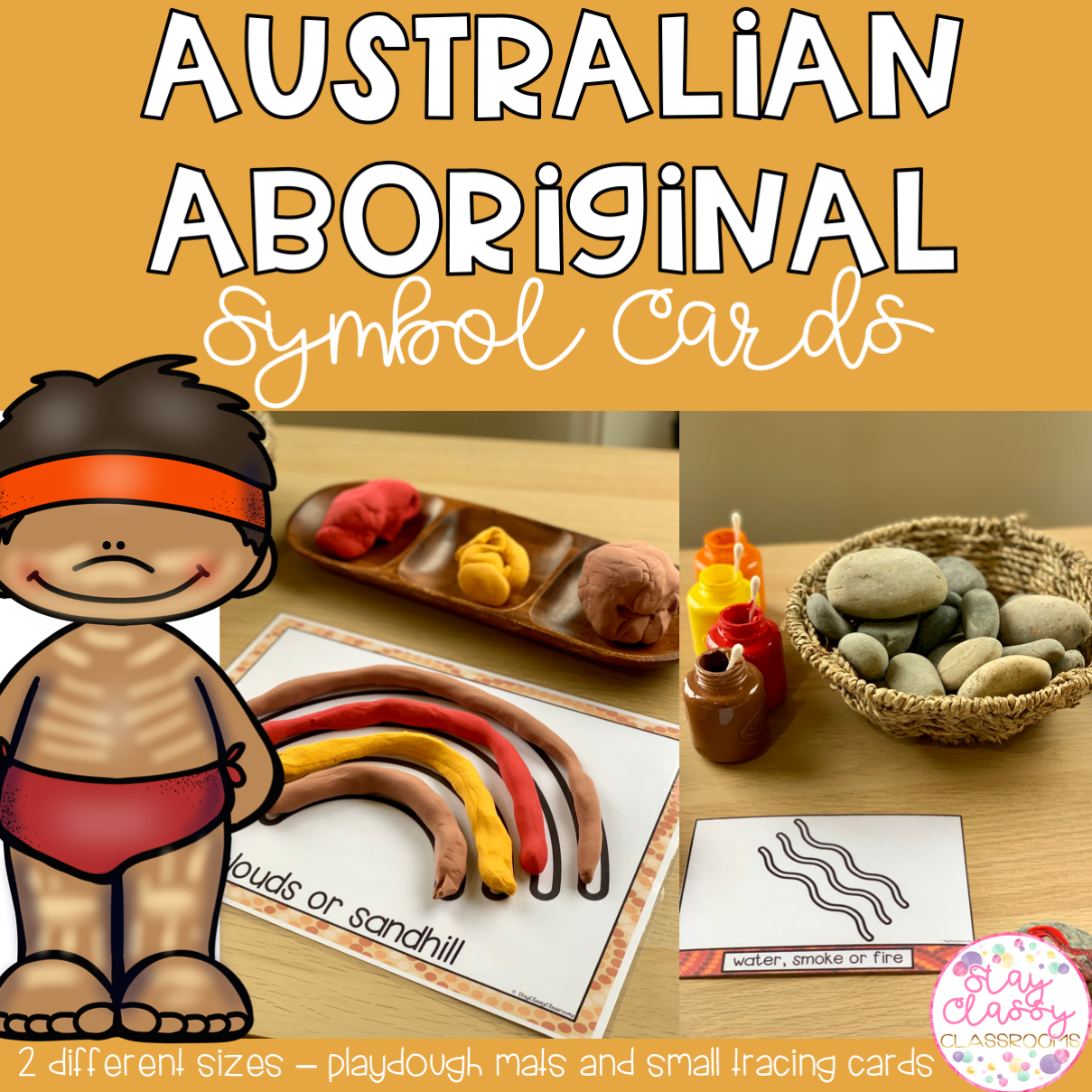 Australian Aboriginal Symbol Cards Stay Classy Classrooms